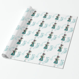 Girl in Gasmask Allergy Wrapping Paper