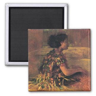 'Girl in Grass Dress' - John LaFarge Magnet