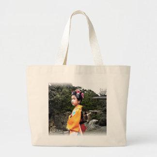 Girl in Kimono Bag