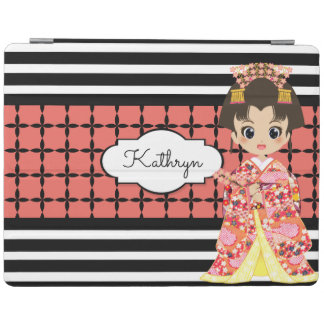 Girl in Kimono w/Modern Patterns iPad Cover