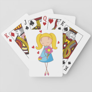 Girl In Love Playing Cards