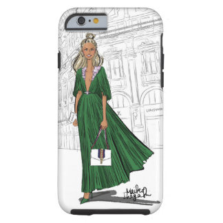 Girl in Milan wearing green dress Tough iPhone 6 Case