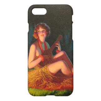 Girl in Moonlight with Banjo Ukulele iPhone 8/7 Case