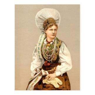 Girl in native costume of Carniola, Austro-Hungary Postcard