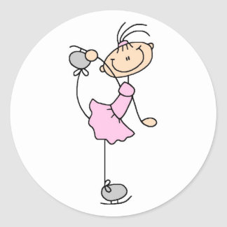 Girl In Pink Ice Skater Sticker