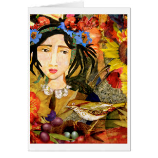 """Girl in the Garden"" Greeting Card"