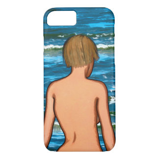 Girl in the Sea Painting iPhone Case