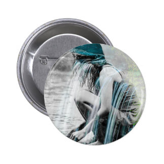 Girl in the Waterfall 2 Inch Round Button
