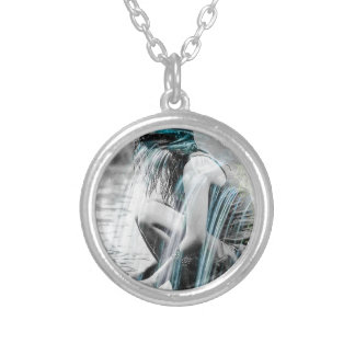 Girl in the Waterfall Silver Plated Necklace