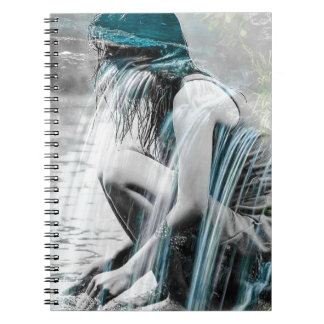 Girl in the Waterfall Spiral Notebook