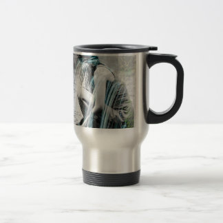 Girl in the Waterfall Travel Mug