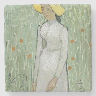 Girl in White Stone Coaster