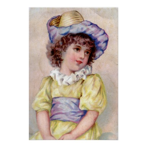 GIRL IN YELLOW DRESS POSTER