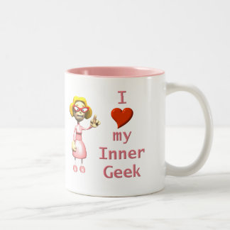Girl Inner Geek Two-Tone Coffee Mug