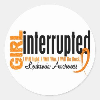Girl Interrupted 1 Leukemia Round Sticker