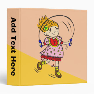 Girl Jumping Rope Vinyl Binder