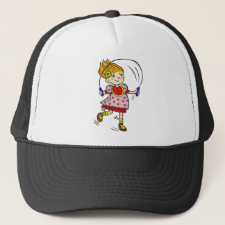 Girl Jumping Rope Trucker Hat