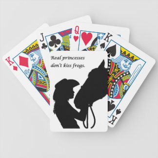 Girl Kissing Horse Bicycle Playing Cards