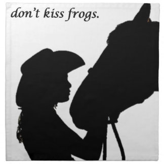 Girl Kissing Horse Napkin