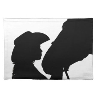 Girl Kissing Horse Placemat