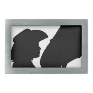 Girl Kissing Horse Rectangular Belt Buckle