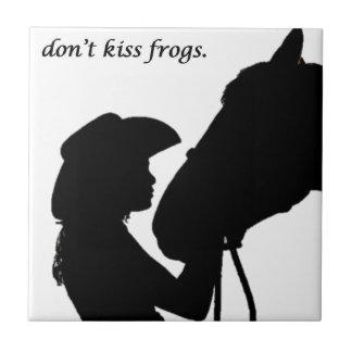 Girl Kissing Horse Tiles