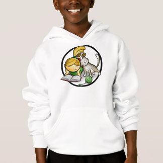 Girl & Kitten - Kids Hooded Sweatshirt