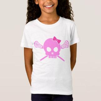 Girl Lacrosse Skull T-Shirt