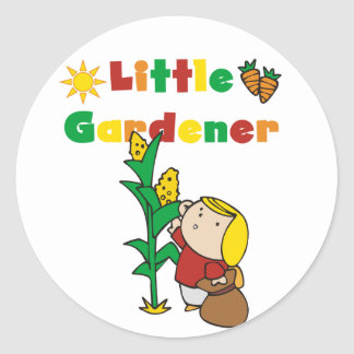 Girl Little Gardener T-shirts and Gifts Classic Round Sticker