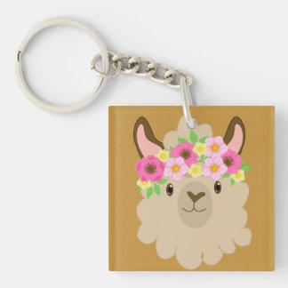 Girl Llama Keychain