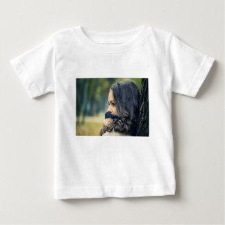 girl-looking-away baby T-Shirt