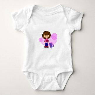 Girl love her Cat Baby Bodysuit
