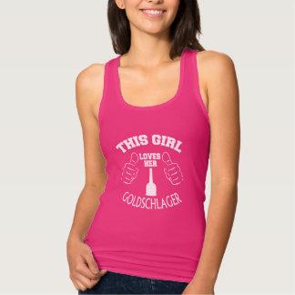 Girl Loves Goldschlager Tank Top