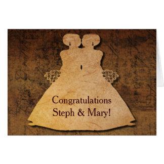 Girl Meets Girl Wedding Card for Lesbian Brides