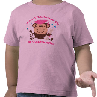 Girl Monkey Graduate Tshirts