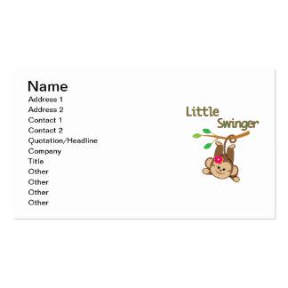 Girl Monkey Little Swinger Pack Of Standard Business Cards
