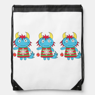 Girl Monsters with Ornaments Cinch Bag