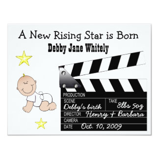 Girl Movie Star Baby announcement