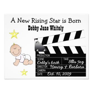 Girl Movie Star Baby announcement