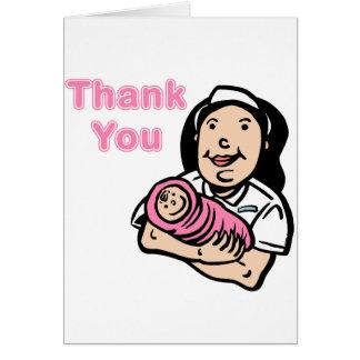 girl nurse thank you card