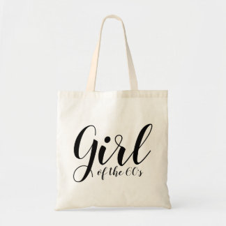 Girl of the Sixties Elegant Typography 1960s Tote Bag