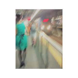 Girl of the subway canvas print