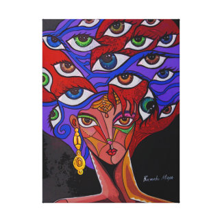 Girl of thousands eyes. canvas print