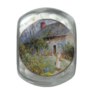 Girl on a Cottage Pathway