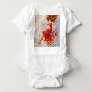 Girl on a swing baby bodysuit