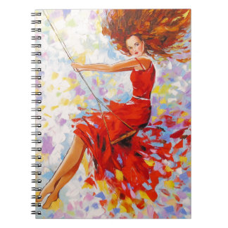 Girl on a swing notebooks