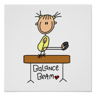 Girl on Balance Beam Poster