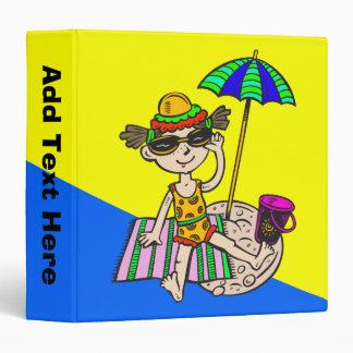 Girl On Beach Vinyl Binder