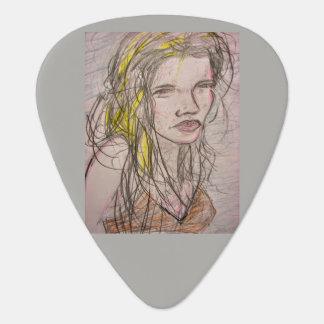 Girl on Beach Guitar Pick