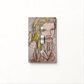 Girl on Beach Light Switch Cover